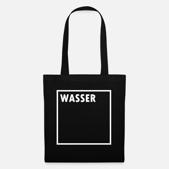 Water Walking Bags & Backpacks - WATER - Tote Bag black