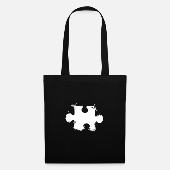 Love Bags & Backpacks - puzzle piece - Tote Bag black
