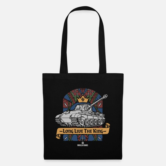 Long Bags & Backpacks - World of Tanks Long Live The King - Tote Bag black
