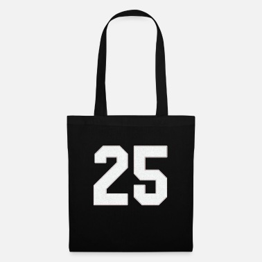 Jersey Number Baseball sports jersey number / Jersey Number 25 - Tote Bag