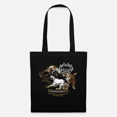 Boar wild_boar_and_hounds - Tote Bag