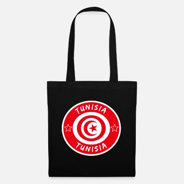 Sousse Tunisia circle with national flag gift Tunis - Tote Bag