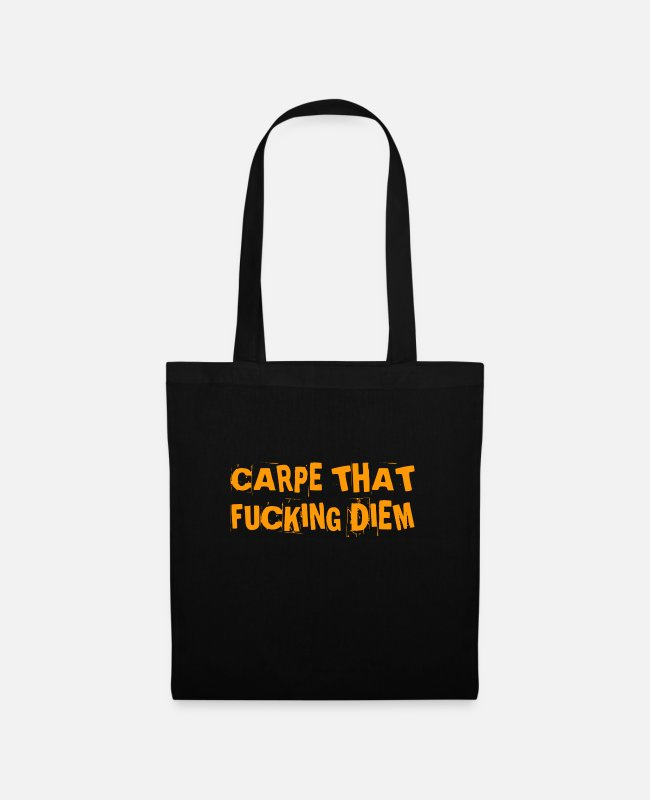 Quote Bags & Backpacks - use the damn day - Tote Bag black