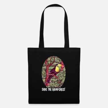 Earth Day Rainforest tropics environmental protection nature bird - Tote Bag