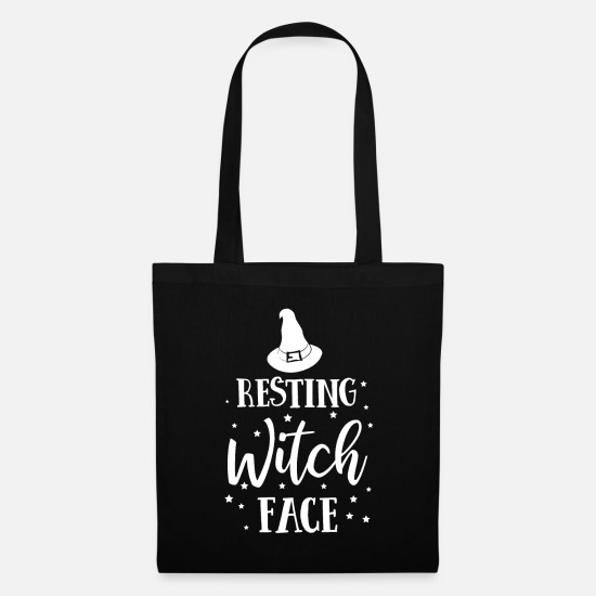 Gift Idea Bags & Backpacks - Resting face - Tote Bag black