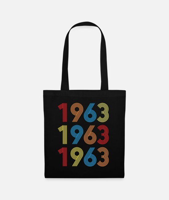 Year Bags & Backpacks - Birthday present 1963 - Tote Bag black
