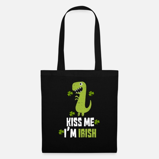 St Bags & Backpacks - Kiss Me I'm Irish - Tote Bag black