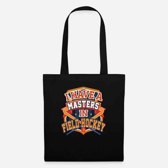 Field Hockey Coach Gift Bags & Backpacks - Field Hockey Player Masters in Field Hockey - Tote Bag black