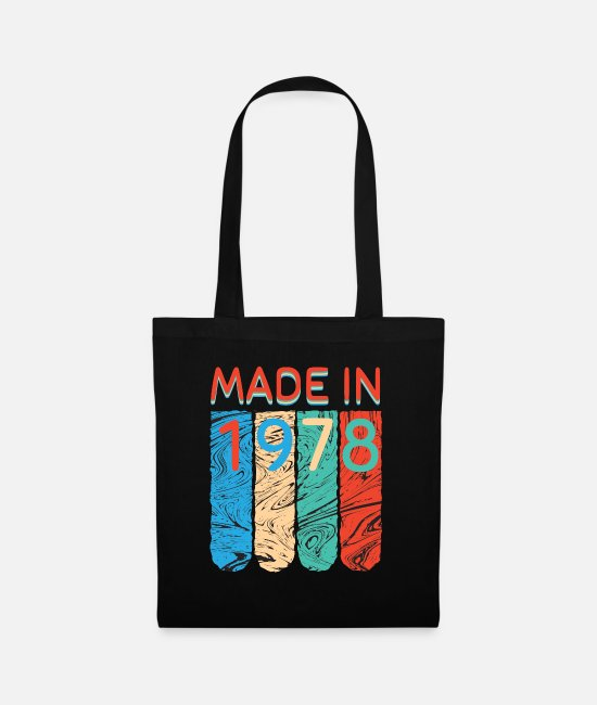 78 Bags & Backpacks - Made in 1978 - Tote Bag black
