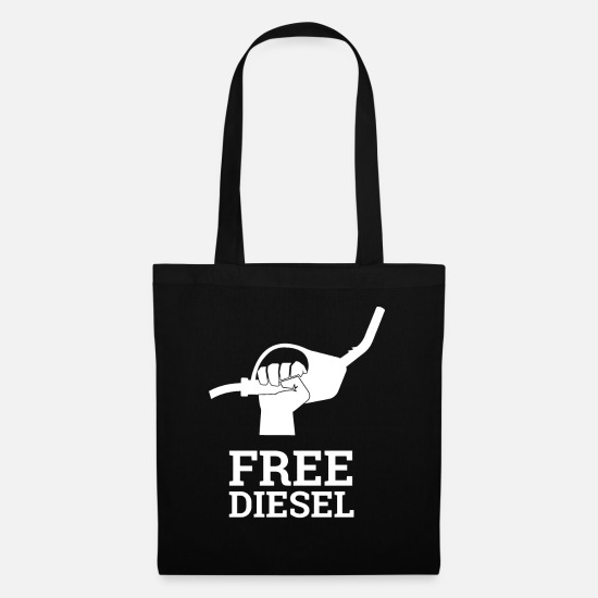 Automobile Bags & Backpacks - Free Diesel - Diesel Ban - Fuel Shirr Petrol - Tote Bag black