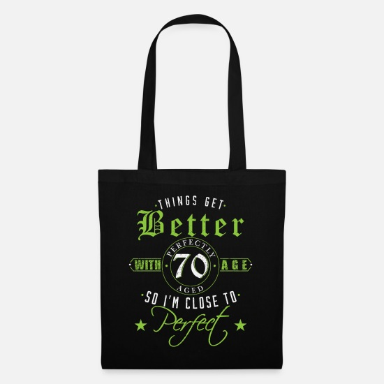 Birthday Bags & Backpacks - 70th Birthday - Tote Bag black