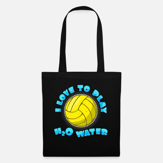 Gift Idea Bags & Backpacks - I Love To Play H2O Water | Water Polo Gift Idea - Tote Bag black