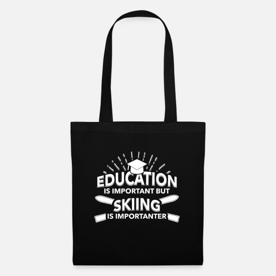 Freestyle Bags & Backpacks - Skiing Skiing Skiing Skiing Skiing - Tote Bag black