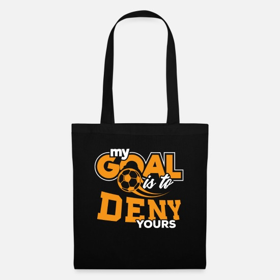Birthday Bags & Backpacks - Goalkeeper Goalie Defender Soccer Football Gift - Tote Bag black