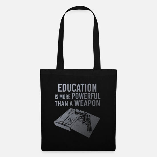 Professor Bags & Backpacks - Education is powerful - Tote Bag black