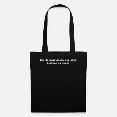Documentation The documentation for that feature is wrong as Zi - Tote Bag