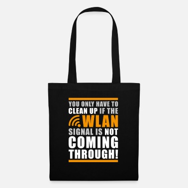 Linux Funny Geek Shit Clean Up Wlan Statement - Tote Bag