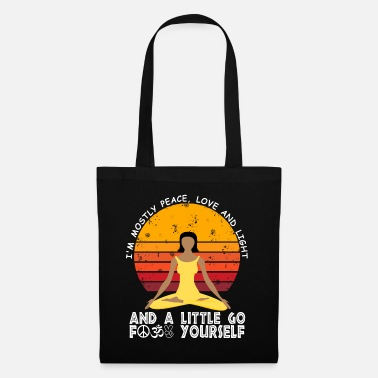 Shanti Yoga meditate meditation peace love Om - Tote Bag