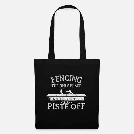 Martial Arts Bags & Backpacks - fencer - Tote Bag black