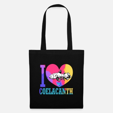 Under Water Coelacanth Extinct fossil fish - Tote Bag