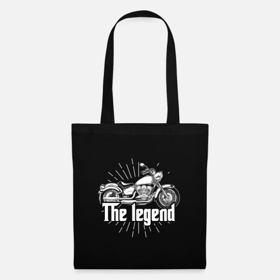 Motorcycle Bags & Backpacks - Biker Riding Motorcycle Best Gift For Driver - Tote Bag black