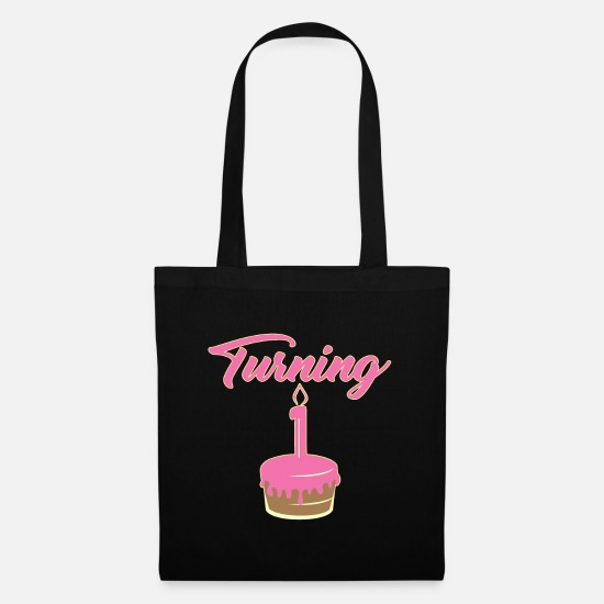 Birthday Bags & Backpacks - 1st birthday - Tote Bag black