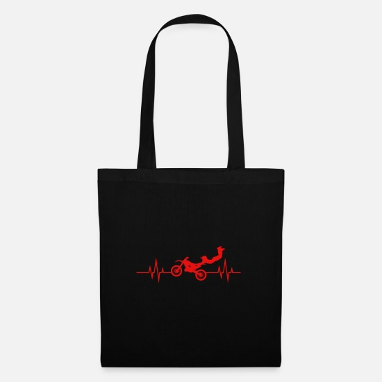 Gift Idea Bags & Backpacks - Heartbeat - Heartbeat / Biker - Tote Bag black