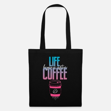 Junkie Life begins after Coffee Coffee Barista Espresso - Tote Bag