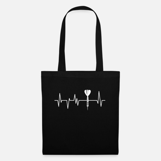 Darts Bags & Backpacks - Darts Heartbeat Darts Dart Tournament Arrow - Tote Bag black