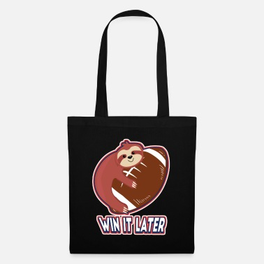 Touch Down Sloth Rugby Football Sport - Tote Bag