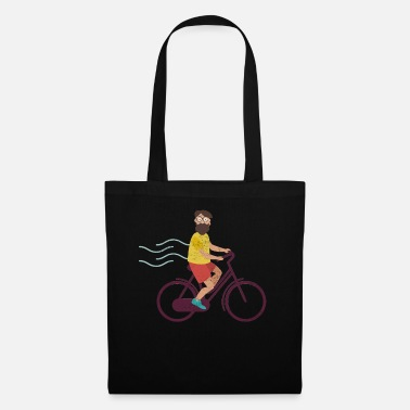 Spectator Cyclist Hipster Retro Beard Funny Gift - Tote Bag