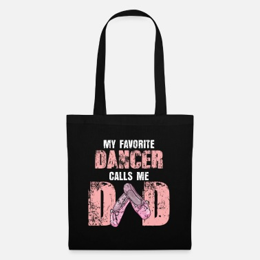 Class Ballet dad father's day son daughter family dancing - Tote Bag