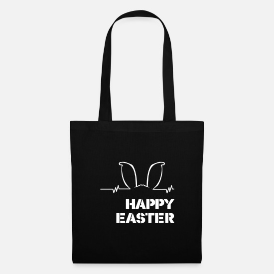 Easter Bags & Backpacks - Easter Easter bunny Easter egg Jesus gift - Tote Bag black