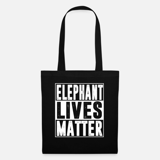 Animal Rights Activists Bags & Backpacks - Elephant threatens extinction - Tote Bag black