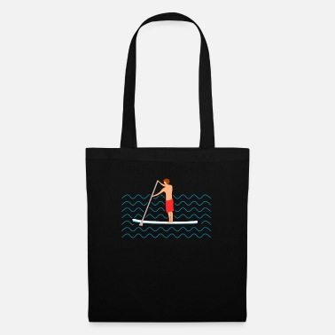 Wave Stand Up Paddling surfing surfboard gift - Tote Bag