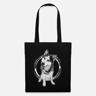 Dog Is Running Husky - Tote Bag