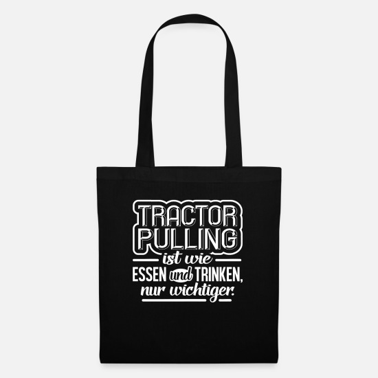 Gift Idea Bags & Backpacks - Tractor pulling - Tote Bag black