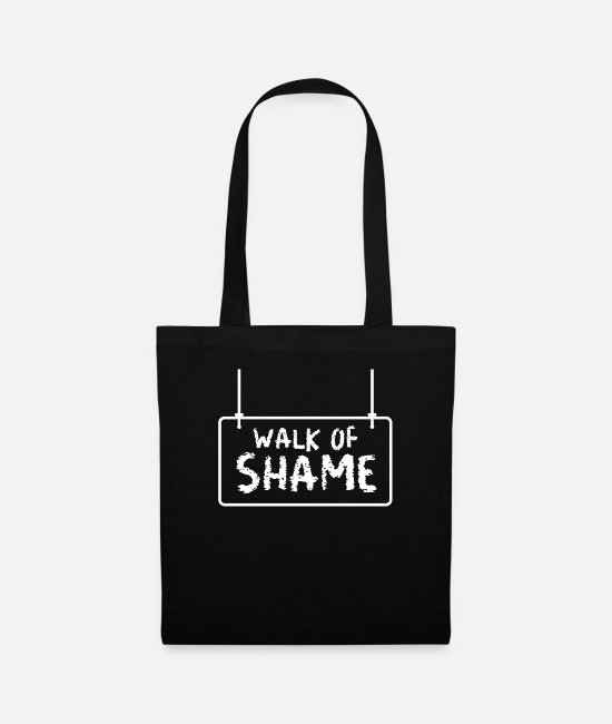 Meme Bags & Backpacks - Halloween Sexy Walk Of Shame Party Joke Gifts - Tote Bag black