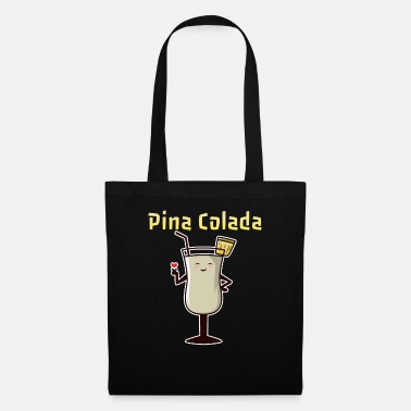 Drinking Pina Colada Tasty Drink Cocktail Recipe - Tote Bag