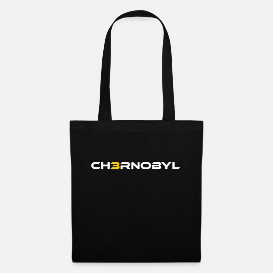 Gift Idea Bags & Backpacks - Chernobyl nuclear reactor saying - Tote Bag black
