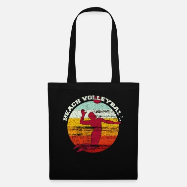 Summer Colours Beach volleyball colorful colors vintage - Tote Bag