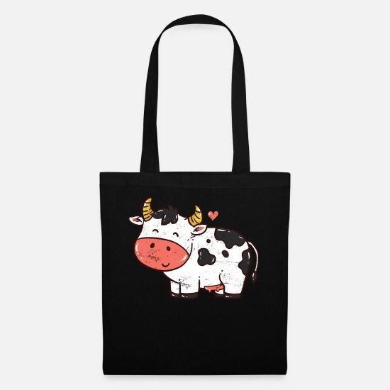 Farming Bags & Backpacks - Cow vintage - Tote Bag black