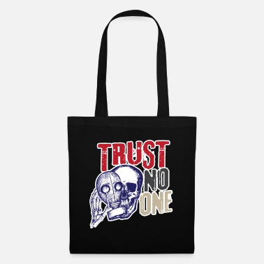 Gas Skull skull gas mask Trust no one - Tote Bag