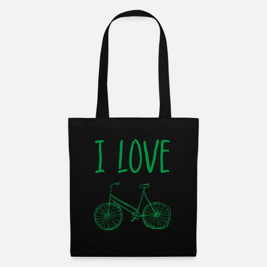 Love Bags & Backpacks - I love bike - Tote Bag black