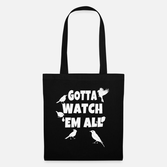 Gift Idea Bags & Backpacks - Ornithologist ornithology saying gift - Tote Bag black