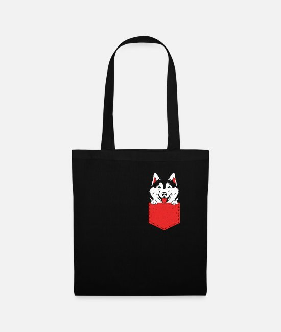 Dog Sport Dog Lover Dog Bags & Backpacks - Husky - Tote Bag black
