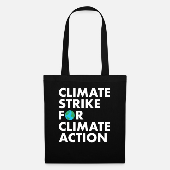 Awareness Bags & Backpacks - Climate Strike for Climate Action - Tote Bag black