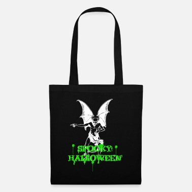 Eyes Devil with spooky nasty Halloween lettering - Tote Bag
