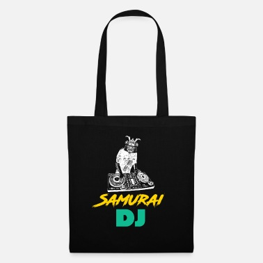 Sushi Art Samurai DJ - Japanese, Japan, Disco - Tote Bag