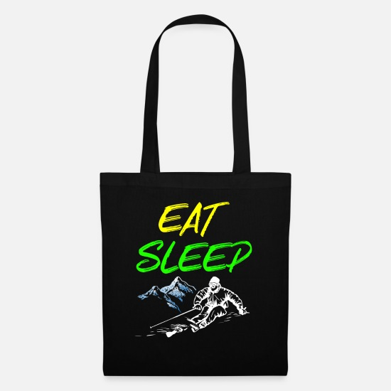 Snowboard Bags & Backpacks - Eat sleep ski - snowboard, ski, slalom - Tote Bag black